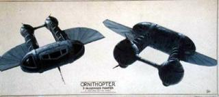 Ornithopter by Ron Miller: Ornithopter for Dune (1984) by Ron Miller
